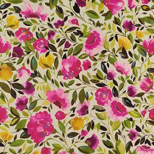 W0074/01 ROSINA Fuchsia Clarke & Clarke Wallpaper