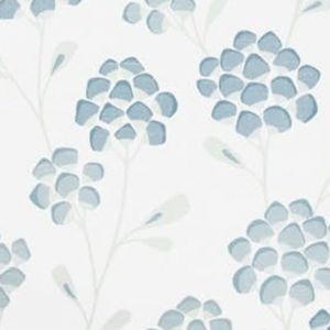 W3511-15 SCANDI FLORA Aqua Kravet Wallpaper
