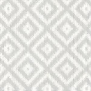 WBP10808 IKAT DIAMOND Harbor Grey Winfield Thybony Wallpaper