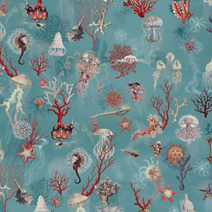 WH0 0002 3324 CORAIL Ocean Scalamandre Wallpaper