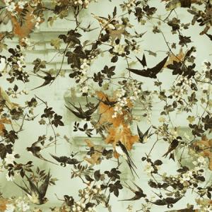 WH0 00033306 HIRONDELLES Automne Scalamandre Wallpaper