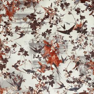 WH0 00043306 HIRONDELLES Hiver Scalamandre Wallpaper