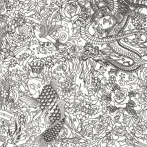 WH0 00063303 HORIMONO Noir Scalamandre Wallpaper