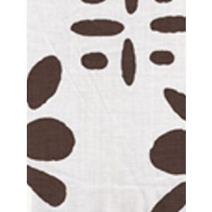 6380-01 WILDFLOWERS II Brown on White Quadrille Fabric