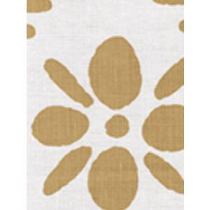 6380-05 WILDFLOWERS II Camel II on White Quadrille Fabric