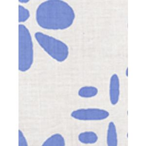 6380-03 WILDFLOWERS II French Blue on White Quadrille Fabric