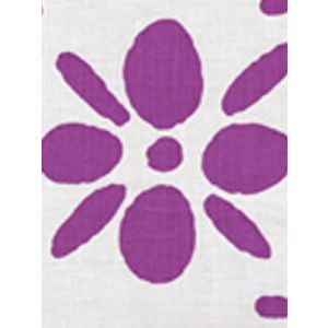 6380-11 WILDFLOWERS II Purple on White Quadrille Fabric