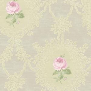 WMA MF060202 CAMEO ROSE Neutral Scalamandre Wallpaper