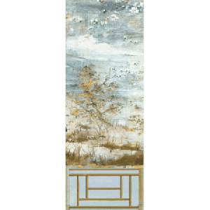 WNM 0001CRESP4 CRESTED CRANE PANEL 4 Wheat Blue Scalamandre Wallpaper