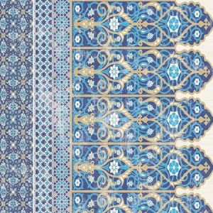 WNM 0001TOPB TOPKAPI BORDER Classic Scalamandre Wallpaper