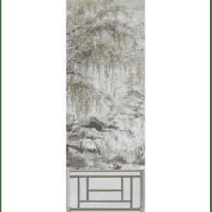 WNM 0003CRESP2 CRESTED CRANE PANEL 2 Silver Gold Scalamandre Wallpaper