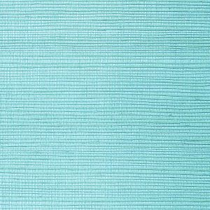 WNM 0097META METALLICA GRASSCLOTH Cyan Scalamandre Wallpaper