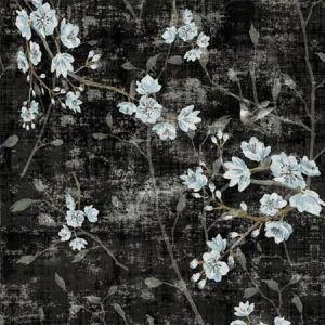 WNM 1058BLOS BLOSSOM FANTASIA Black Blue Scalamandre Wallpaper