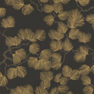WSB 0099 0804 PINE Gold On Ebony Sandberg Wallpaper