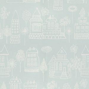 WSB 00070522 KASPAR Turquoise Sandberg Wallpaper