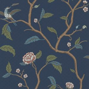 WSB 00860401 MARIANNE Blue Brown Sandberg Wallpaper