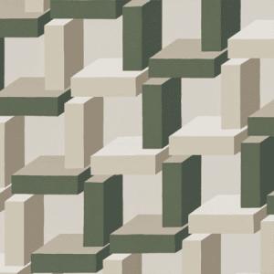 WSB 00880800 CHRISTIAN Green Beige Sandberg Wallpaper