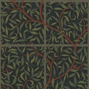 WSB 00910404 DIANA Black Green Brown Sandberg Wallpaper