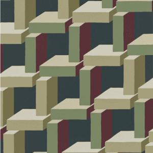 WSB 00940800 CHRISTIAN Dark Red Green Sandberg Wallpaper