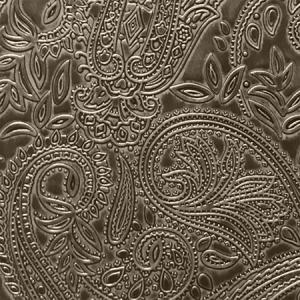 WSM PA04 PAISLEY Licorice Scalamandre Wallpaper
