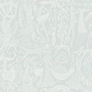 WV1761 Poem d'Amour Folk Sage Brewster Wallpaper