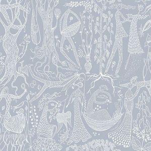 WV1765 Poem d'Amour Folk Slate Brewster Wallpaper