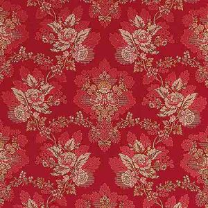 ZA 1769CARL CARLOS LAMPAS Scarlet Old World Weavers Fabric