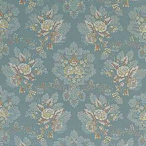 ZA 1771CARL CARLOS LAMPAS Aqua Old World Weavers Fabric