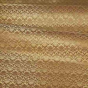 ZA 1781CALO CARLOS SMALL DAMASK Toffee Old World Weavers Fabric