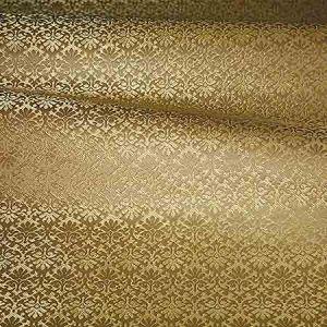 ZA 1788CALO CARLOS SMALL DAMASK Brass Old World Weavers Fabric