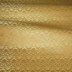 ZA 1789CALO CARLOS SMALL DAMASK Gold Old World Weavers Fabric