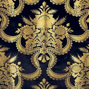 ZA 2155RNAS REALE NASTRI Midnight Old World Weavers Fabric