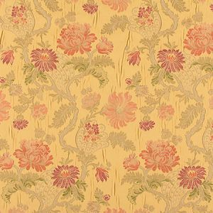 ZA 00526410 PALAZZO PAMPHILY LAMPAS Golden Spice Old World Weavers Fabric