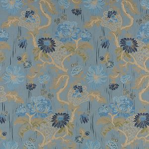 ZA 00556410 PALAZZO PAMPHILY LAMPAS Lagoon Old World Weavers Fabric