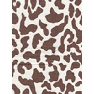6085-08 ZEZE LEOPARD Brown on Tint Quadrille Fabric