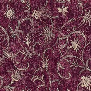 Z1717 Dis Libellula Jacobean Burgundy Brewster Wallpaper
