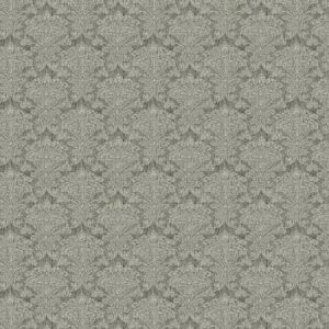 ORDERLY DAMASK Charcoal Fabricut Fabric
