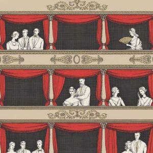 114/18037-CS TEATRO Linen Rouge Cole & Son Wallpaper