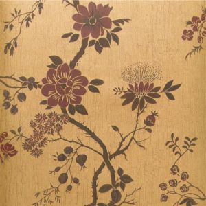115/8027-CS CAMELLIA Crimson Metal Gold Cole & Son Wallpaper