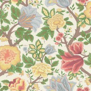 116/4013-CS Midsummer Bloom Chartreuse Rouge Leaf  Cole & Son Wallpaper