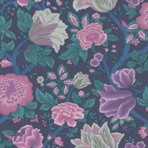 116/4015-CS Midsummer Bloom Mulberry Teal Cole & Son Wallpaper