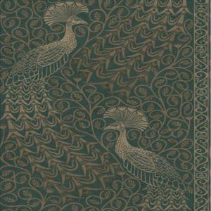 116/8031-CS Pavo Parade Metallic Gilver Green Cole & Son Wallpaper