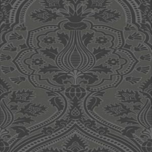 116/9035-CS Pugin Palace Flock Charcoal Cole & Son Wallpaper