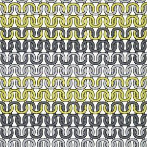Schumacher Loop De Loop Print Driftwood Fabric