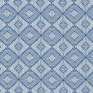 Schumacher Amazing Maze Ocean Fabric