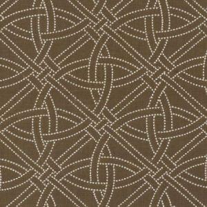 Schumacher Durance Embroidery Truffle Fabric