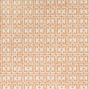 Stroheim Fret Orange Wallpaper