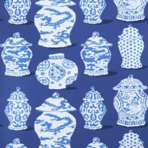 Stroheim Canton Cobalt Blue Wallpaper