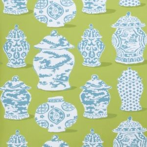 Stroheim Canton Lime Turquoise Wallpaper