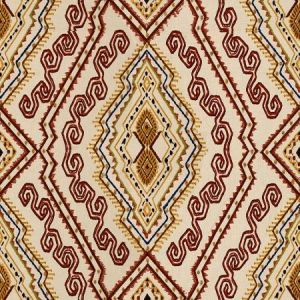 Lee Jofa Abyssinia Red Gold Fabric
